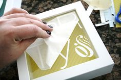 Vinyl Decals on Glass in Frames, Photo Wall