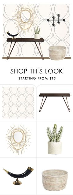 """Chic entryway."" by cheetakat12 on Polyvore featuring interior, interiors, interior design, home, home decor, interior decorating, Graham & Brown, Modloft, Allstate Floral and Menu"