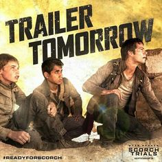 The trailer for the Scorch Trials is released tomorrow. Maze Runner The Scorch, Maze Runner Movie, Maze Runner Trilogy, Maze Runner Series, September, James Dashner, Maximum Ride, The Best Series Ever, The Scorch Trials