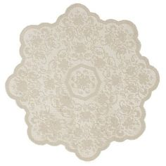 Heritage Lace Medallion 36-Inch Round Table Topper, Cafe:Amazon:Home & Kitchen