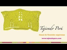 Punto hojas grandes tejido en dos agujas - YouTube Knitting Videos, Mehndi, Knitted Hats, Knit Crochet, Stitch, Sewing, Lace, Womens Fashion, Pattern
