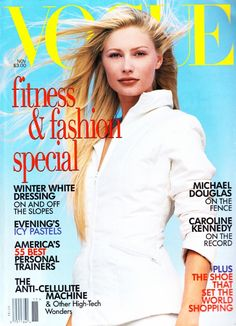 Kirsty Hume by Steven Meisel Vogue US November 1995 Vogue Magazine Covers, Vogue Covers, Kelly Emberg, Kirsty Hume, Dior, Dna Model, Catherine Mcneil, Lisa Marie Presley, Vogue Us