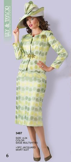 Lily and Taylor - Mode Collection - Spring 2018 Women Church Suits, Suits For Women, African Wear, African Fashion, Ladies Day Outfits, Roaring 20s Dresses, Trendy Suits, Church Attire, Mother Of Groom Dresses