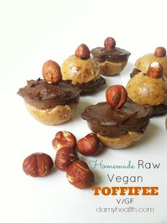 Homemade Raw Vegan TOFFIFEE - This recipe is raw, vegan, gluten free, simple, natural ingredients and is the perfect healthy Toffifee dupe.