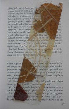 Autumn Leaves Bookmarker - a good use for the laminator!