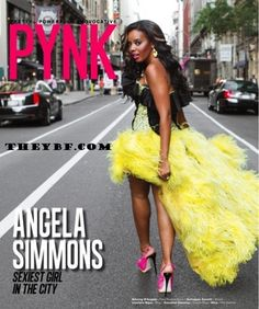 """Angela Simmons GOES """"Sex In The City"""" For PYNK Magazine"""