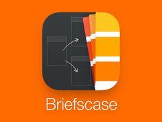 Dribbble - Briefscase App Icon by Louie Mantia