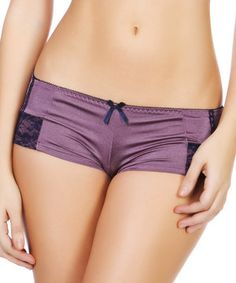 Loving this Purple  amp  Black Boyshorts - Women on  zulily!  zulilyfinds  Boyshorts ad04b6b84