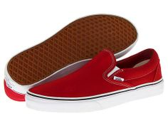 Vans Classic SlipOn in Chili Pepper 45 the classic but not sure about arch support Tenis Vans, Vans Sneakers, Slip On Sneakers, Cute Vans, Cute Shoes, Me Too Shoes, Vans Slip On, Vans Classic Slip On, Slip On Shoes