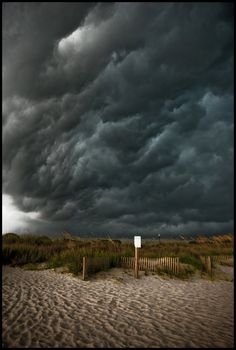 Stormy night on the beach