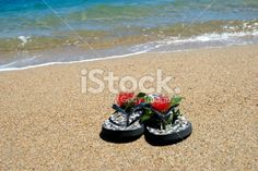Jandals by the Sea Royalty Free Stock Photo Kiwiana, Sea Photo, Christmas Background, Image Now, Christmas Time, Royalty Free Stock Photos, Summer, Photography, Christmas Scenery