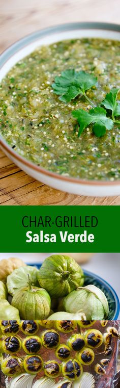 Mexican Salsa Verde with fire roasted tomatillos, chilis, garlic onions and cilantro. Learn how to make this delicious salsa verde at home.