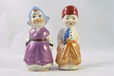 Vintage Dutch salt and pepper shakers
