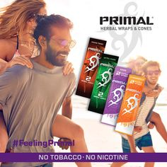 We've created a new evolution of smoking products. Combining high-quality ingredients without tobacco and without nicotine to create a smooth smoking experience. #FeelingPrimal