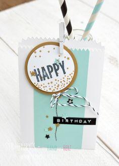 Sir Henry's: Leckereientüte Stampin Up Wir feiern Geburtstagsverpackung Happy Birthday