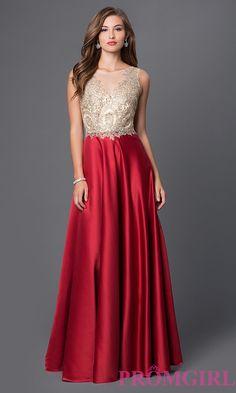 Image of long sleeveless dress Front Image