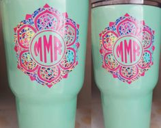 Yeti Monograms decal Lily Inspired Decal by Scrappychicksonvinyl