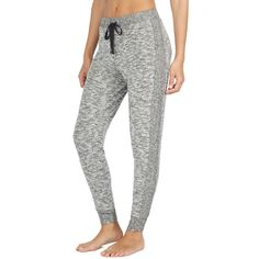 Women's Cuddl Duds Pajamas: Snow Days Jogger Pants ($19) ❤ liked on Polyvore featuring intimates, sleepwear, pajamas, black, holiday pjs, cuddl duds, cuddl duds sleepwear, holiday sleepwear and pj pants