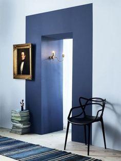 Colori dall'effetto drammatico - Un effetto drammatico con questo abbinamento colori pareti.