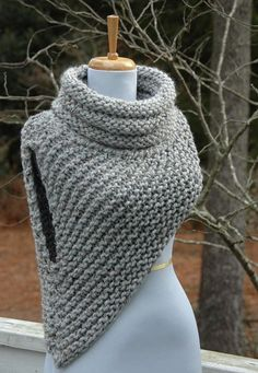 Knitting Pattern: Katniss Cowl Huntress Vest - Instant Download PDF  This is a…