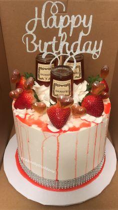 Alcohol Birthday Cake, Birthday Drip Cake, Alcohol Cake, Special Birthday Cakes, Novelty Birthday Cakes, Adult Birthday Cakes, Birthday Cakes For Women, Birthday Ideas, Birthday Bar