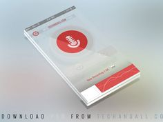 Free PSD - Translucent Perspective Mobile Mockup Screen | OmahPSD