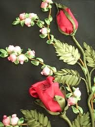 Crafts Needlework - TOOGOO(R)Crafts Needlework Embroidery Paintings Fashion Pastoral Eternal Love Ribbon Embroidery Color Series New Paintings Flower - Embroidery Design Guide Silk Ribbon Embroidery, Crewel Embroidery, Hand Embroidery Patterns, Embroidery Designs, Embroidery Thread, Ribbon Art, Diy Ribbon, Ribbon Projects, Collage