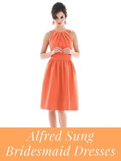 Alfred Sung bridesmaid dresses!