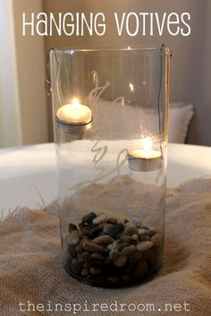 Thanksgiving, Party & Christmas Table Decor: Hurricanes with Hanging Votive Candles! - The Inspired Room