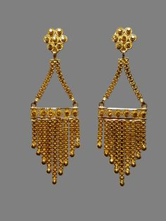 Calls us at 233 - 9508 ** Gold Jewelry 24k Gold Jewelry, 18k Gold Bracelet, Gold Bangles, Gold Earrings Designs, Gold Price, Bridal Jewellery, Designer Earrings, Gold Pendant, Gold Chains