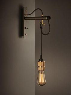 Hooked wall light, Industrial wall lights, Industrial lighting, Classic and period lighting, Holloways of Ludlow £205.00