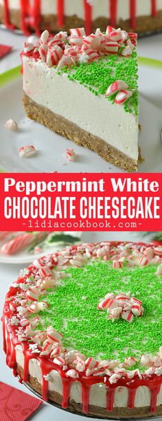 Peppermint White Chocolate Cheesecake is perfect dessert for busy holidays! This cheesecake is magically wonderfully fluffy, creamy and delish and very decorative for your table!