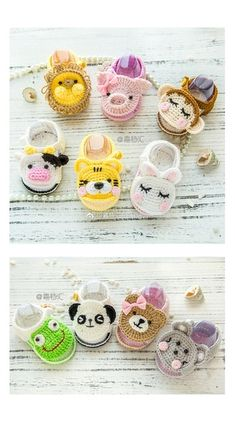 classic yet simple diy crochet ideas for you - page 34 Crochet Baby Sandals, Booties Crochet, Baby Girl Crochet, Crochet Baby Clothes, Crochet Shoes, Crochet Slippers, Crochet For Kids, Knit Crochet, Crochet Crafts