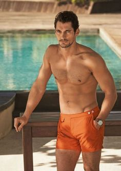 David Gandy Shirtless for Autograph Swimwear