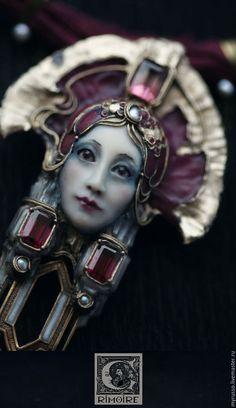 Necklace, handmade necklace. Fair Masters - handmade. Buy Apsinthos, Star Wormwood .. Handmade. Burgundy, wormwood, pearls