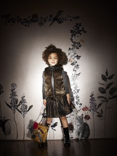 Fairy tale princesses and heroines, the Lanvin Petite collection for winter 2013 combines savoir faire with candy pink dreams.  Fabrics borrowed from the women's range and couture finishes combine with sequins and brightly coloured calicos to create a wardrobe for elegant little girls.