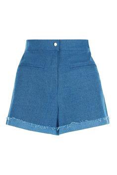 Rough Cut Denim Shorts