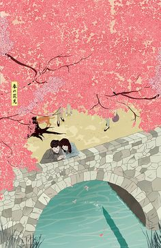 Artist Marcos Chin at Illustration Division Art And Illustration, Illustrations, Japanese Illustration, Japanese Prints, Japanese Art, Art Chinois, Japanese Painting, Art Design, Woodblock Print