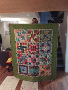 Finished my first patch work quilt ( Fabric is Honor Roll FQ Bundle by Anna Maria Horner. Pattern is Simple Sampled by Jeni Baker )