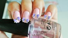 2 pc of purple Bowknot 3d nail art by GlamourFavor on Etsy