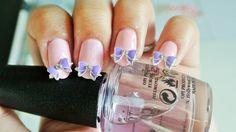 purple Bowknot,3d nail art,2 pc,Nail Charm,nail Jewelry,Nail Cover,Ribbon,Nail Decoration,Cellphone Decoden,Bow Nails,Accessories,