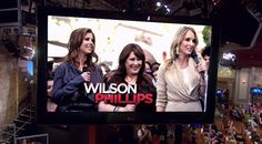 "4/9 Carnie Wilson, Wendy Wilson and Chynna Phillips of ""Wilson Phillips"" perform live!"