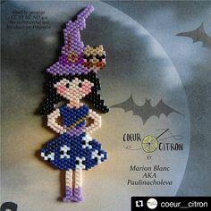 Pour préparer halloween @coeur__citron vous propose une charmante petite sorcière en perles miyuki adapté d'un motif de @paulinacholeva ! D'autres à venir. Lien dans notre bio. @coeur__citron @lili_azalee @lesptitsbonheursdemamzellelulu @pauline_eline sortent un livre sur le tissage #brickstitch le 27 octobre ! Stay tuned ! #miyukibeads #miyuki #tissage #beadwork #jenfiledesperlesetjassume #perlesandco #beadweaving #perlesmiyuki #perleusecompulsive