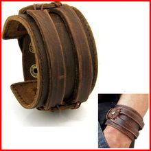 12PCS/Lot Unique Vintage Jewelry Johnny Depp Individual Leather Cuff Bracelet For Men Women Wholesale Free Shipping(China (Mainland))