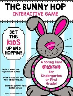 This is a fun SCOOT GAME to get your kiddos up and hopping this Spring Time! For Kindergarten and First Grade. Quick & easy…and tons of learning fun ...for ELA and Math. $