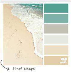 Lovely color palette for Master bedroom