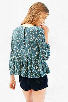 Cooperative Baby Doll Blouse - Urban Outfitters