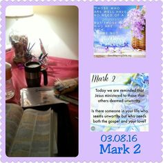 "Early morning Bible study. I still have to refer to the color chart when #biblehighlighting  and sometimes probably don't get it exactly right but thats ok. This really helps one to slow down and really read more and dig more into the scripture and just #soak it all in. #votd  is Mark 2:17. Which by the way...how true is this? It reminds me of s saying ""God doesn't call the qualified but he qualifies the called"". Some of the most faith filled God loving God fearing  people preachers…"