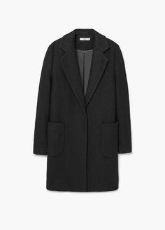 Μάλλινο παλτό με τσέπες