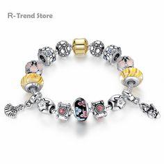 Bamoer S925 Sterling Silver Charm émail Talons Hauts Dangle Pour Bracelet Bijoux